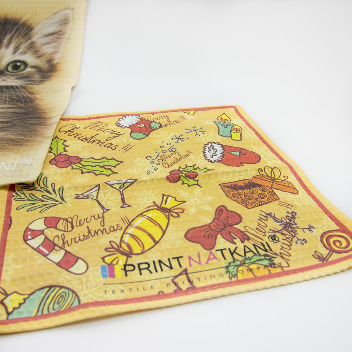 Печать фотографий на вафельном полотенце