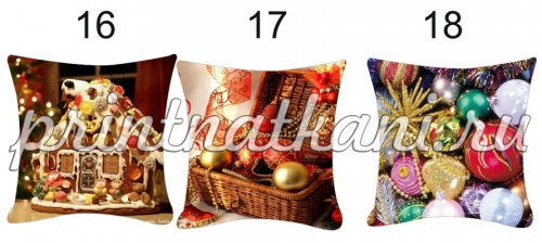шаблон новогодних подушек