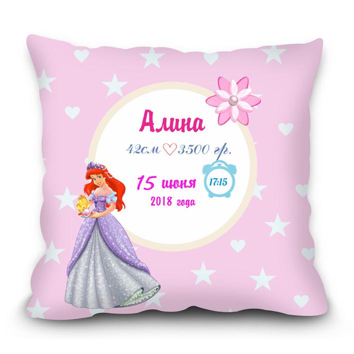 Подушка с метрикой для девочки