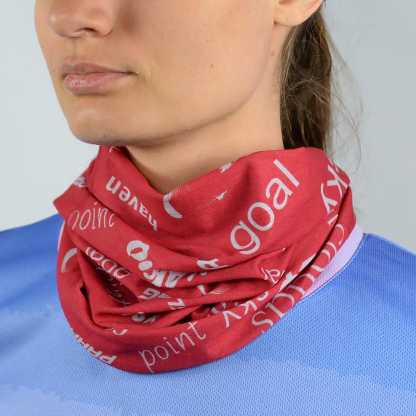 Спортивный шарф красный