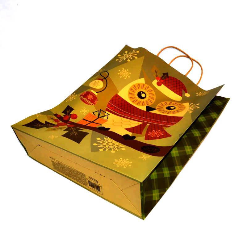 Новогодний пакет крафт