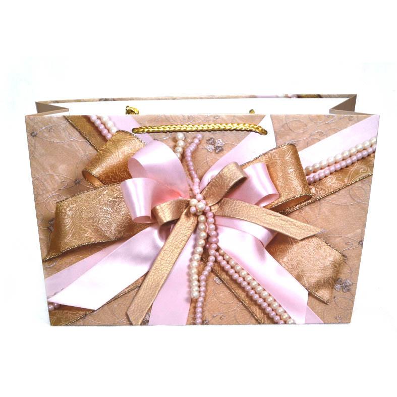 Подарочный пакет с бантом