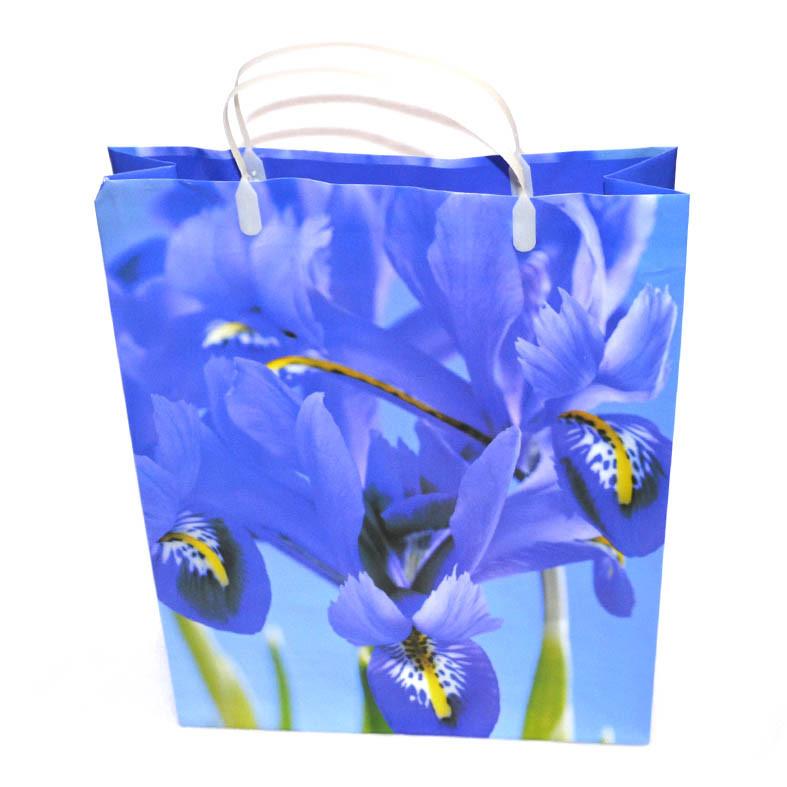 Пакет подарочный синий