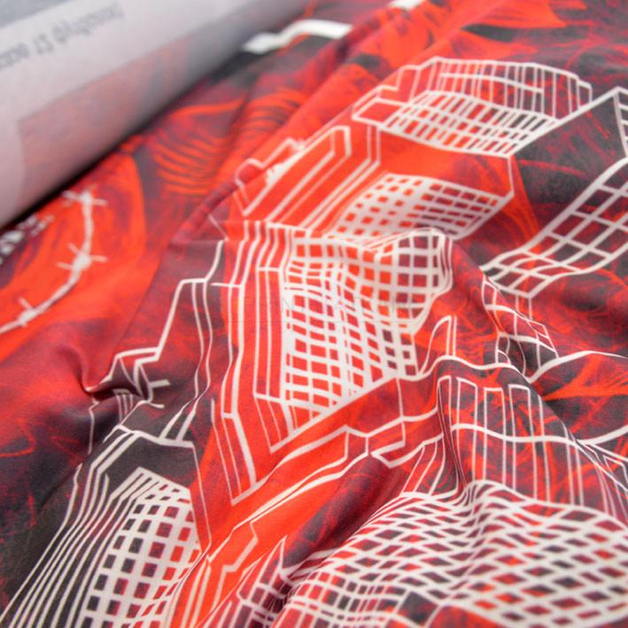 Ткань джерси с печатью