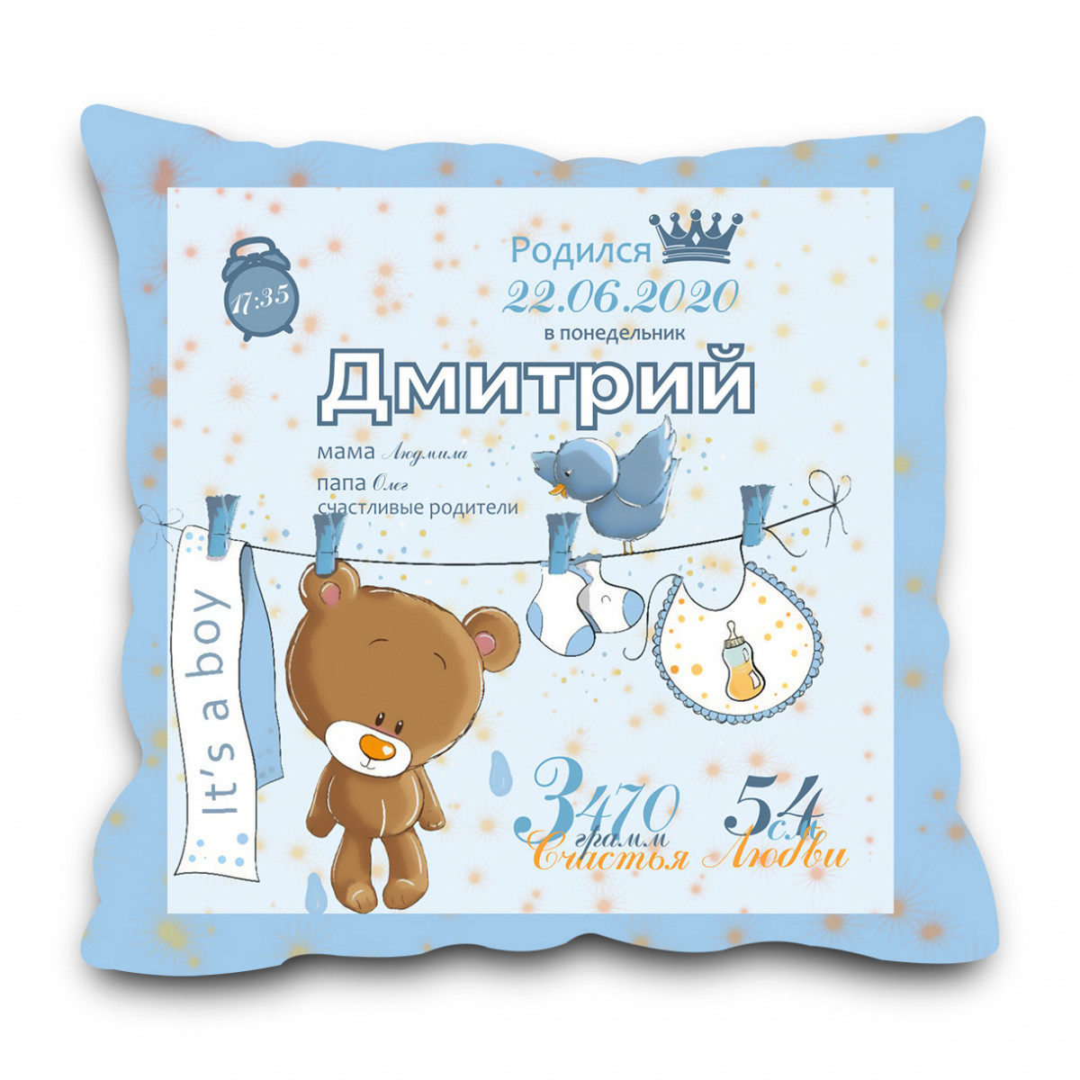 Подушка для новорожденного в кроватку