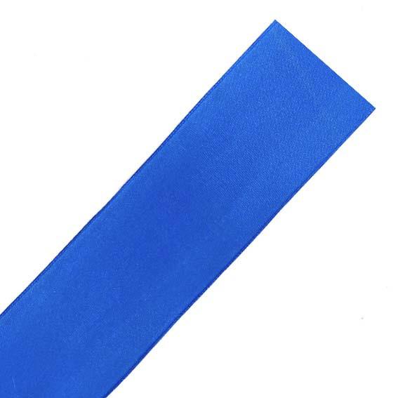 Лента атласная, синяя
