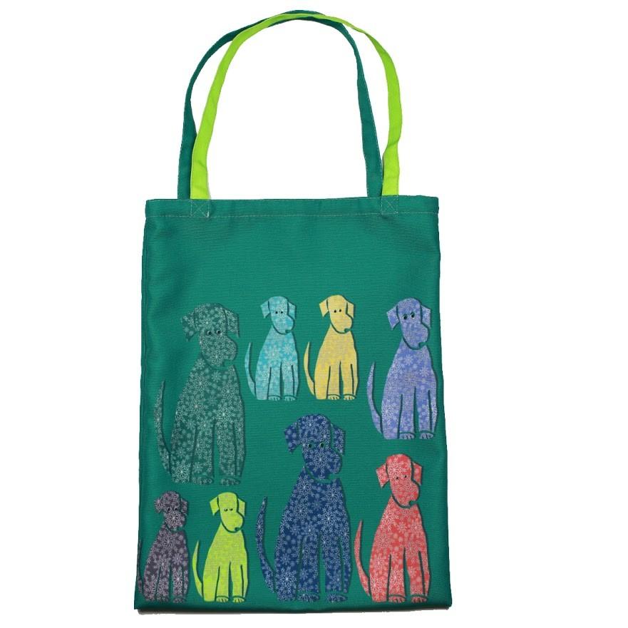 Сумка разноцветные собаки